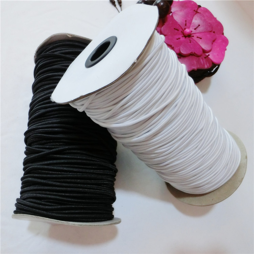Solid Round Elastic Cord Polyester DIY Handcraft Sewing Accessories 2.5mm