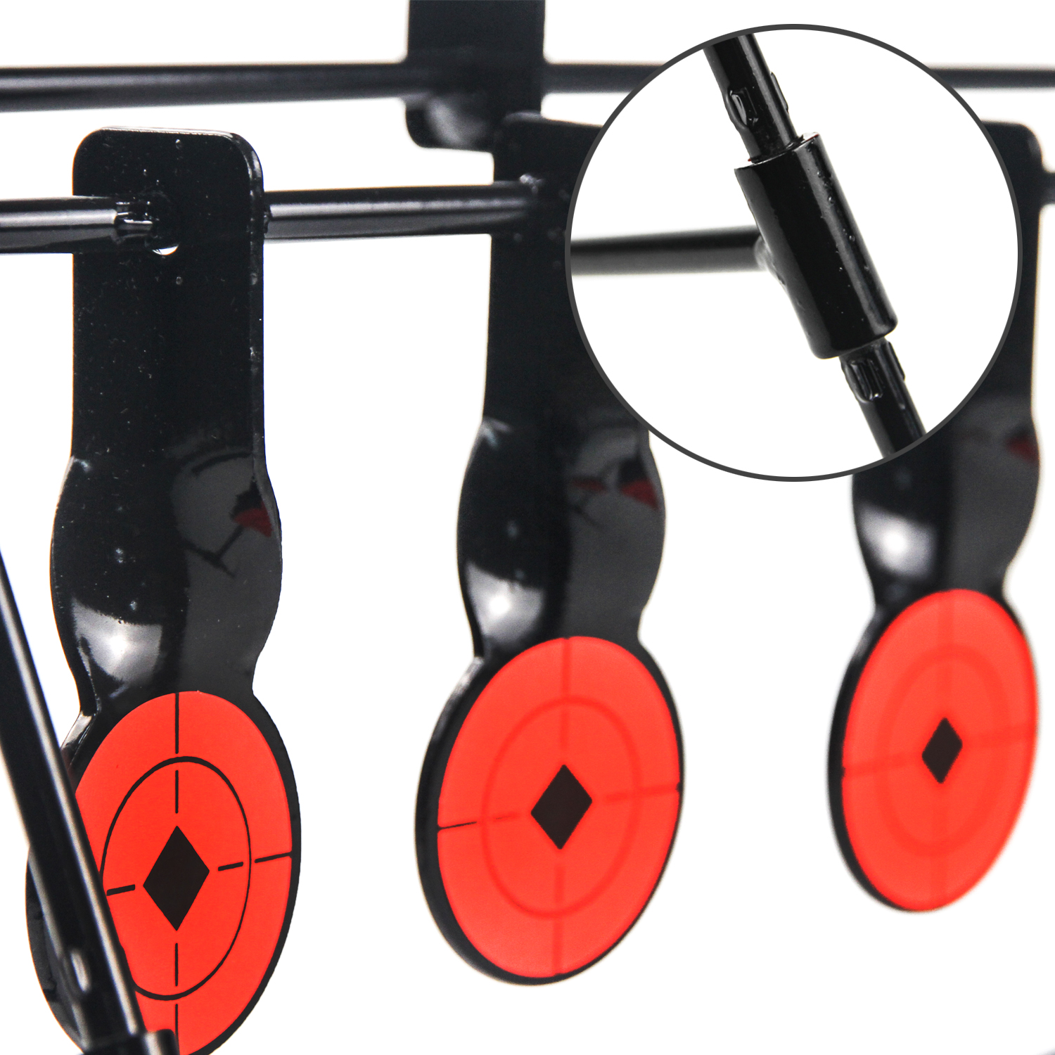 Shooting Steel Auto Reset Targets Portable for Air BB and Pellet .177cal Guns