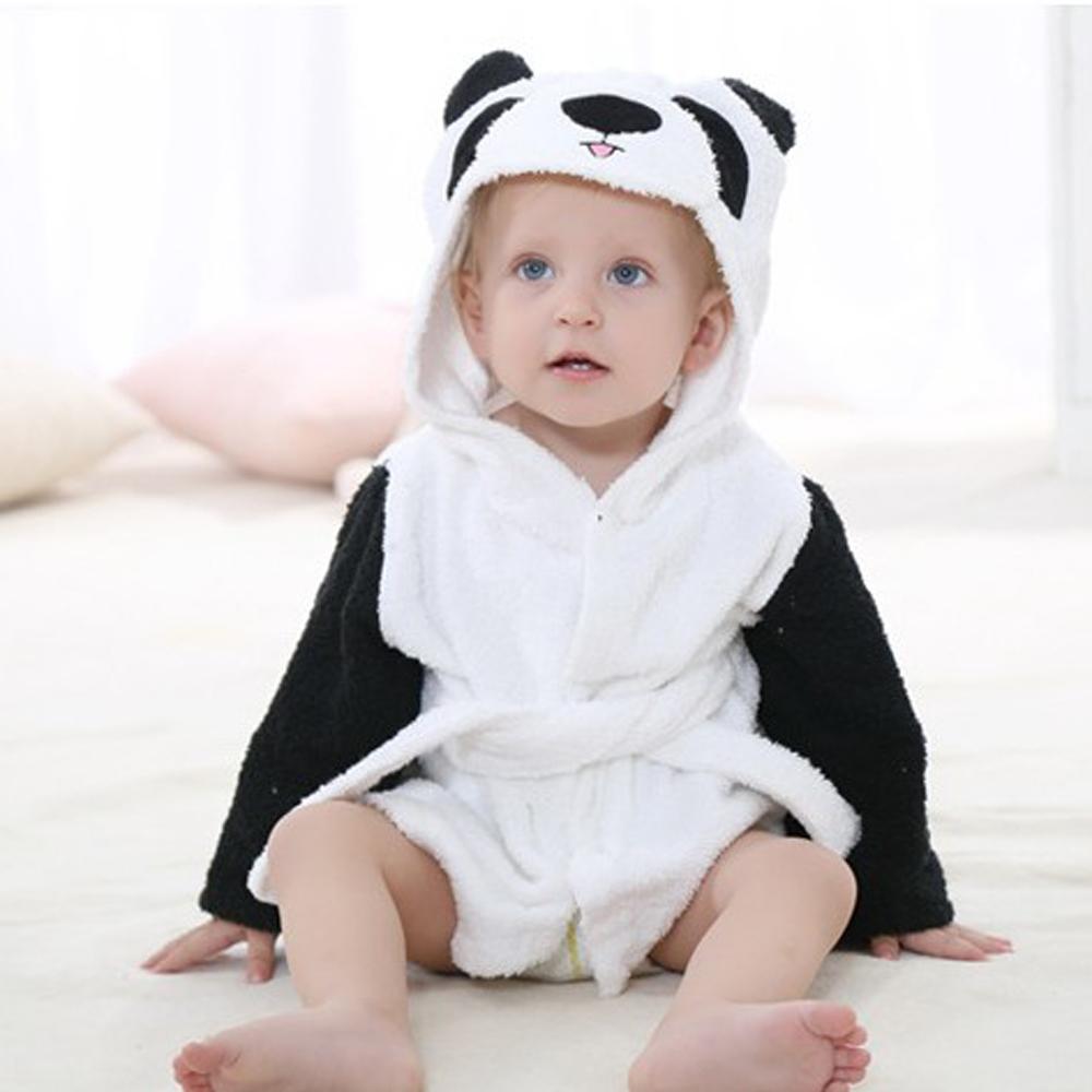 Baby Girls Boys Hooded Animal Bathrobe Toddler Wrap Dressing Gown Rat//Panda