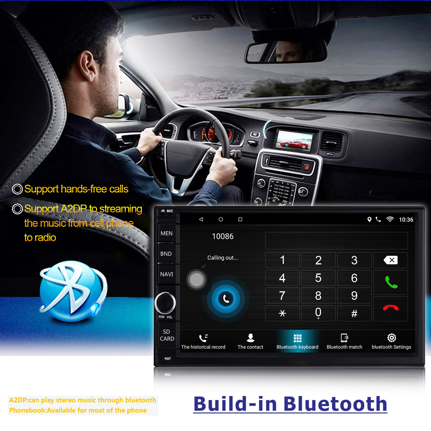 2Din Android 6 0 1GB 7in 2 DIN Car Stereo Radio Bluetooth GPS USB Radio  Audio Player