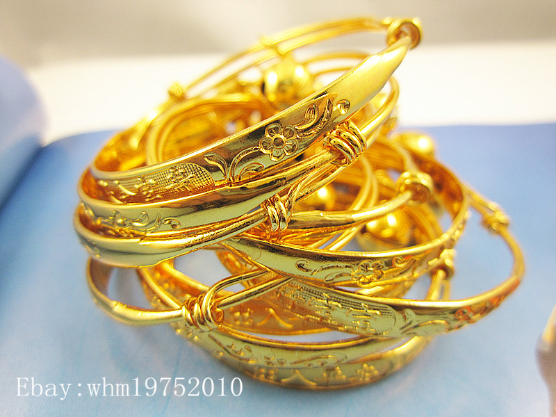 website s gold unique color new infant small boy for children jewellry set gift bangle silver lovely bracelet kid born ring girl baby