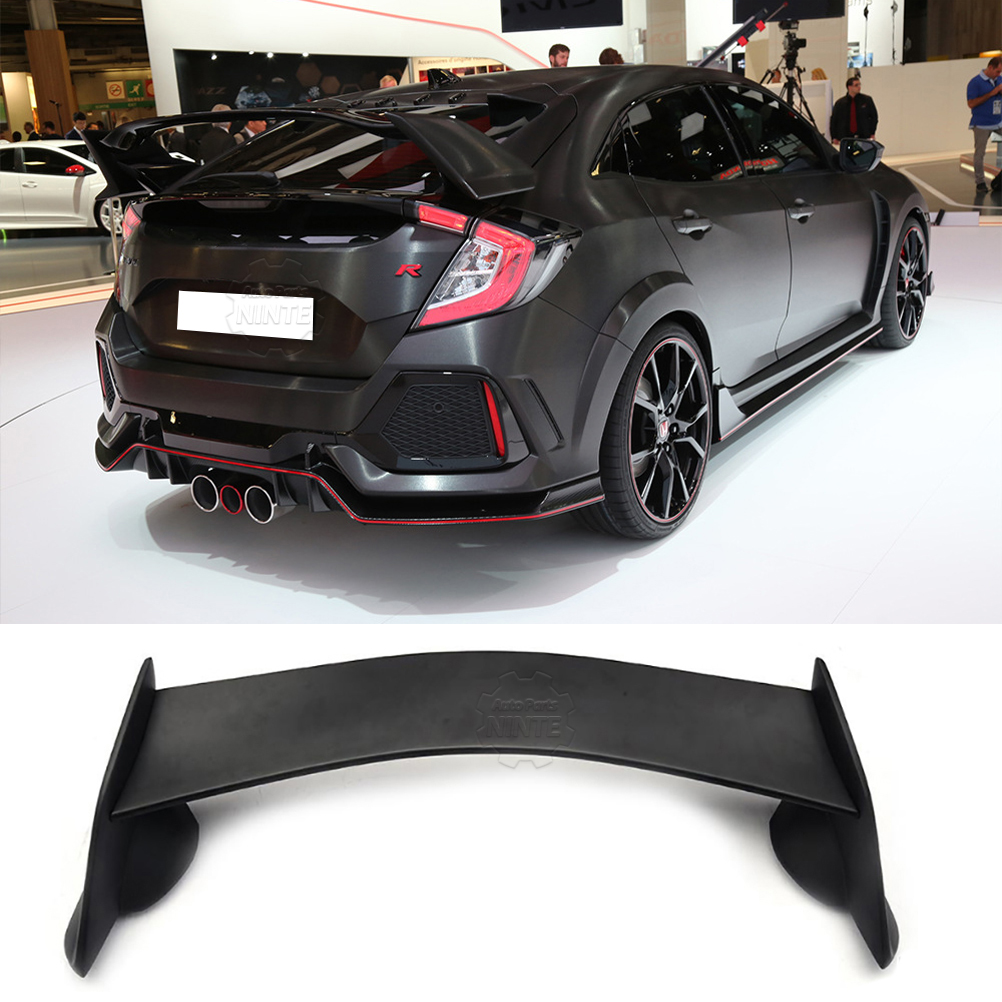 Spoiler Wing For 2016 2017 2018 Honda Civic Sedan Trunk Type R Jdm 1992 Ctr Abs Unpainted