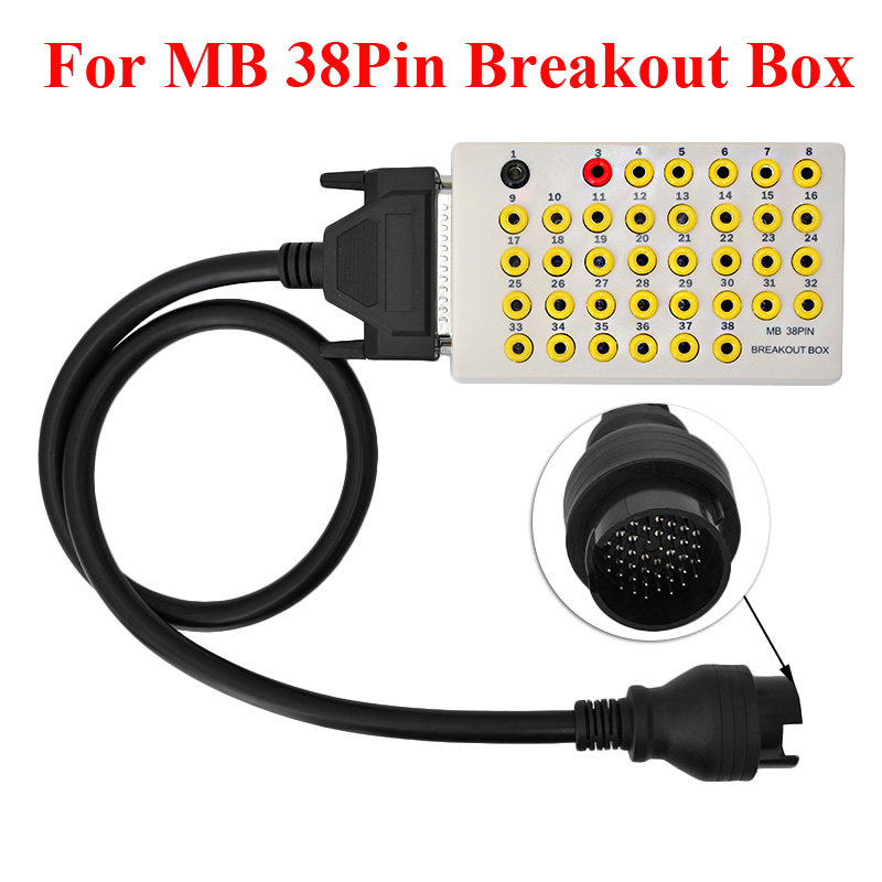 For Benz MB OBDII 38 Pin Breakout Box Diagnostic Scanner Pinout Box Tool