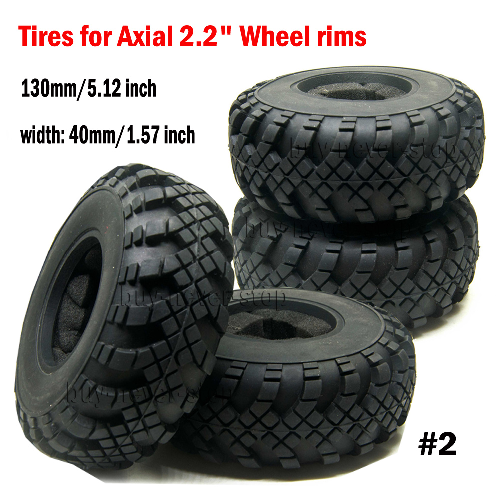 """1Pc 2.2/"""" Rubber Tyre Tire W// foam inserted OD 40mm for RC Crawler Car Wheel Rims"""