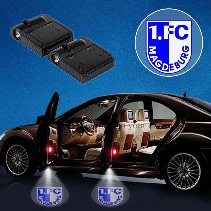 2x Funk LED Auto Tür Laser Projektor Licht Leuchte Lampe Fußball ...