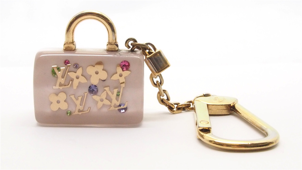 3ab9937c8fe8 Authentic LOUIS VUITTON White Inclusion Speedy Key Holder Bag Charm  18022382CK