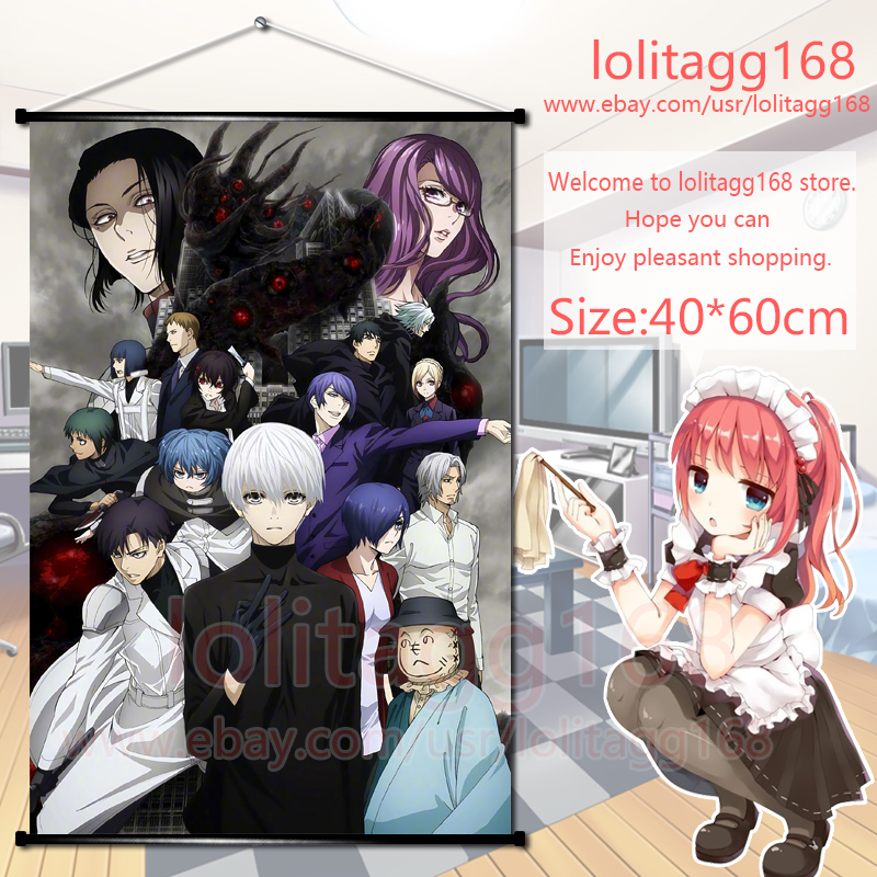Japanese Tokyo Ghoul Cosplay Home Decor Anime Wall Poster Scroll 40*60cm