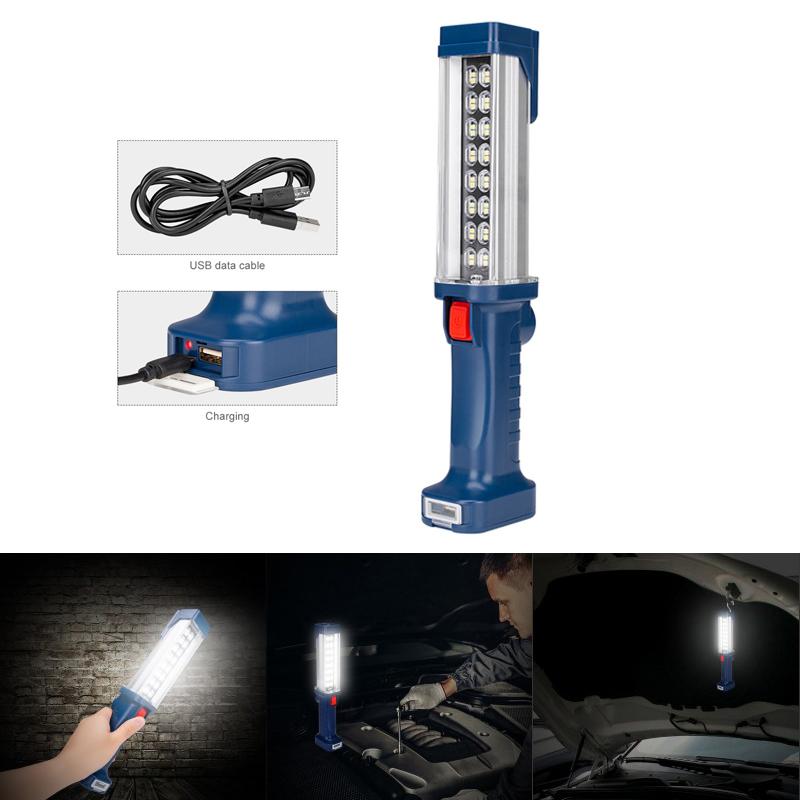 LED Inspection work Light,Rechargeable COB Work Lights,Hand-held Emergency Defense Work Light for Car Repair Home Use Workshop Garage Emergency