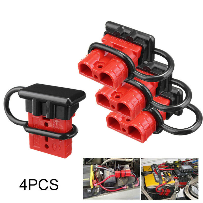 2pc Battery Quick Connector Kit 50a Plug Connect Disconnect Winch Trailer 50A 6AWG -Grey