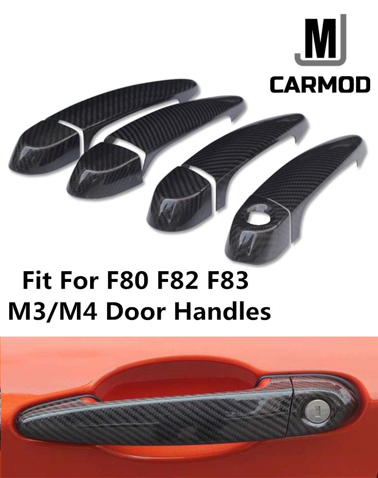 Fit for BMW F80 F30 F31 F34 3 Series Carbon Fiber Door Handle Bar Cover TRIM