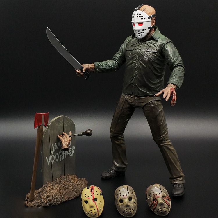 """Ultimate Part 5 Jason Voorhees Gift UK 7/"""" Friday The 13th Scale Action Figure"""