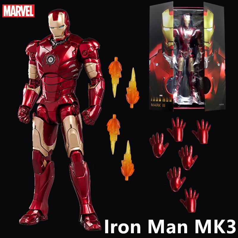ZD TOYS Iron Man MK 4 Mark IV 7'' Action Figure Marvel Avengers gift IN STOCK