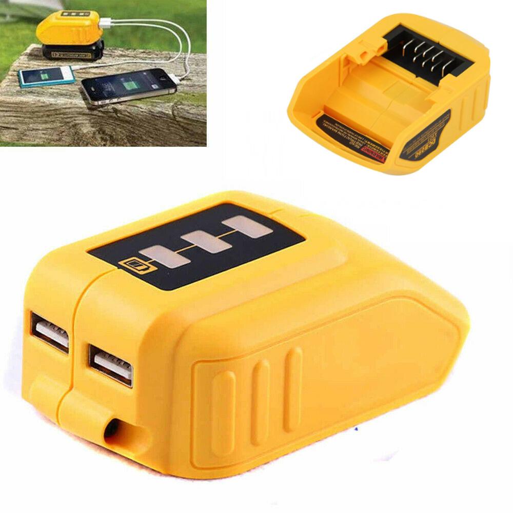 UK 12V//20V USB Charging Battery Adapter for DEWALT DCB090 Power Source Charger
