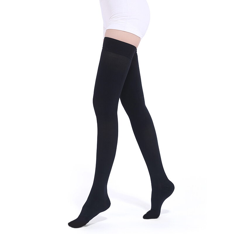ff464537e3 23-32mmHg Anti-Embolism Stockings Graduated Compression Socks Thigh High  Support
