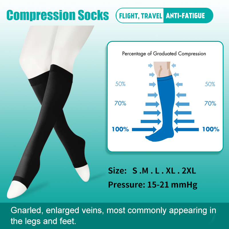 4a1dfab5961 Women Men Medical Compression Socks Knee High Support Hose Varicose  Stockings