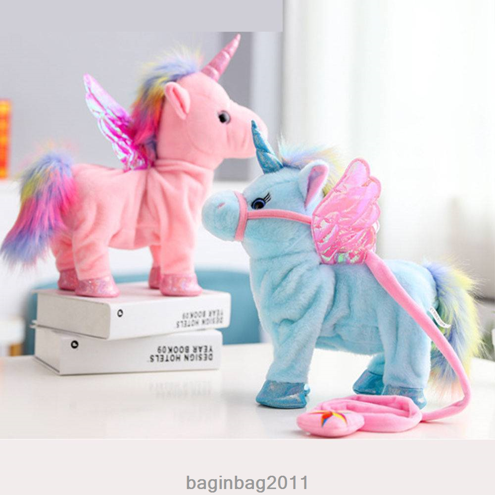 Walking Talking Unicorn Plush Toy With Talk Singing Songs XMAS Gift Kids Toy US