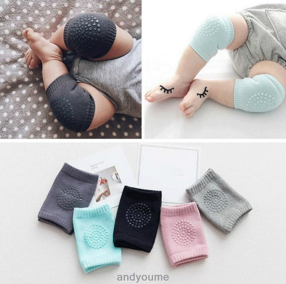 1pair Baby Soft Anti-slip Elbow Protector Crawling Knee ...