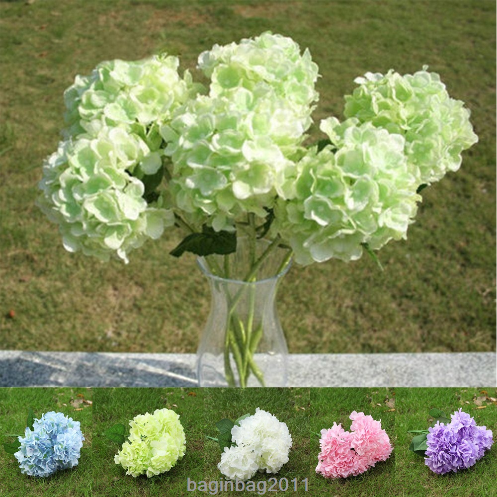 6 heads 1 bunch fake artificial floral flower bouquet hydrangea 6 heads 1 bunch fake artificial floral flower bouquet hydrangea party decor uk izmirmasajfo