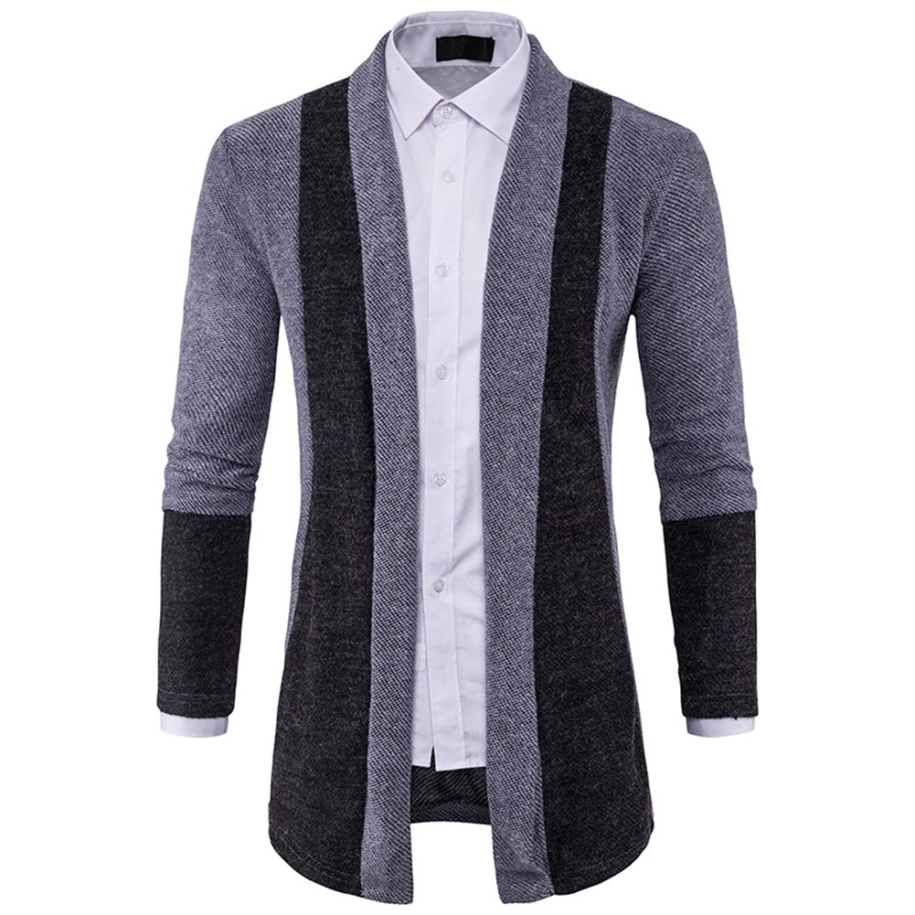 Fashion Men's Stylish Slim Fit Knit V-Neck Cardigan Long Sweater ...
