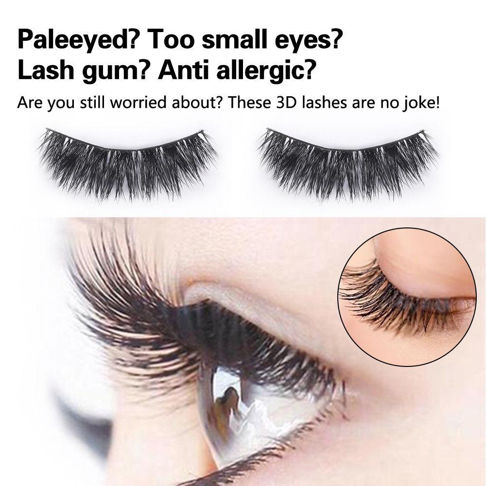 5 Pairs False Fake Eyelashes Thick Long 3d Eye Lashes Natural