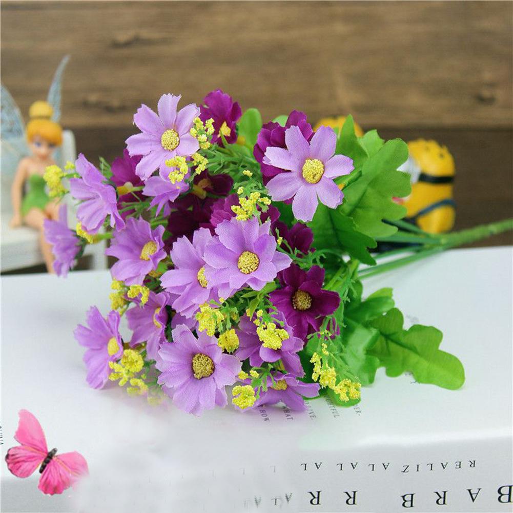 Bouquet Artificial Small Chrysanthemum Daisy Silk Flower Home Party