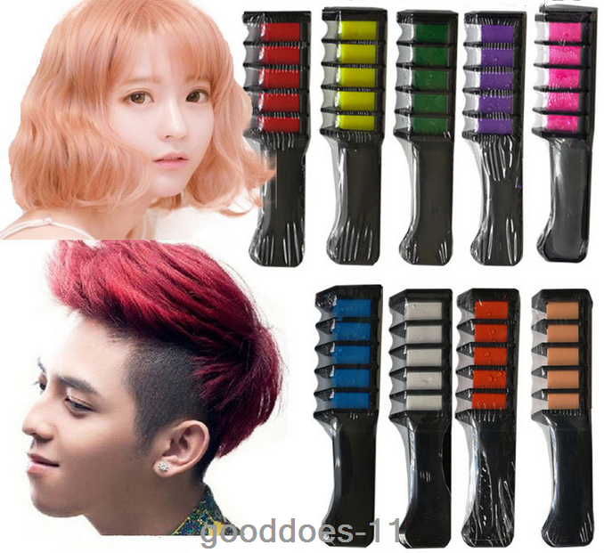 7 Color Temporary Hair Chalk Hair Color Comb Dye Salon Kits Party