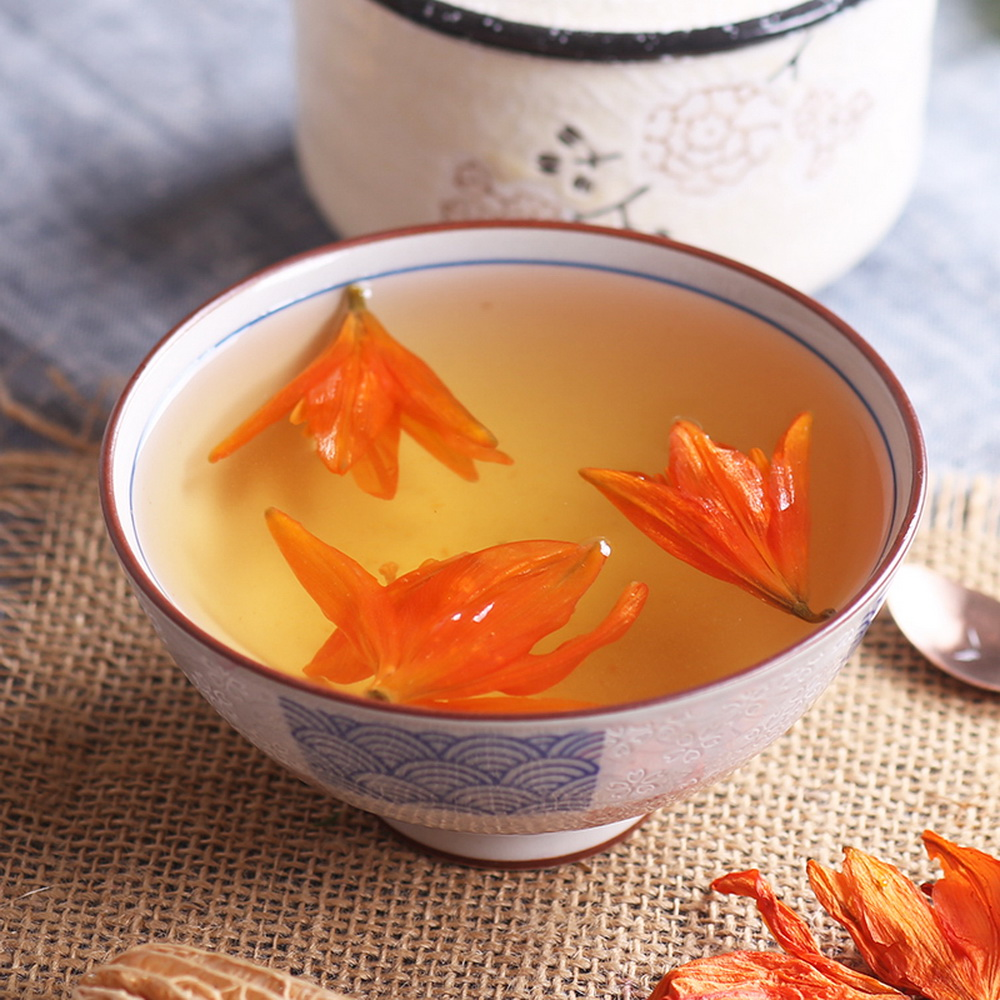 Organic Natural Chinese Orange Lily Flower Lilium Bai He Hua Dried