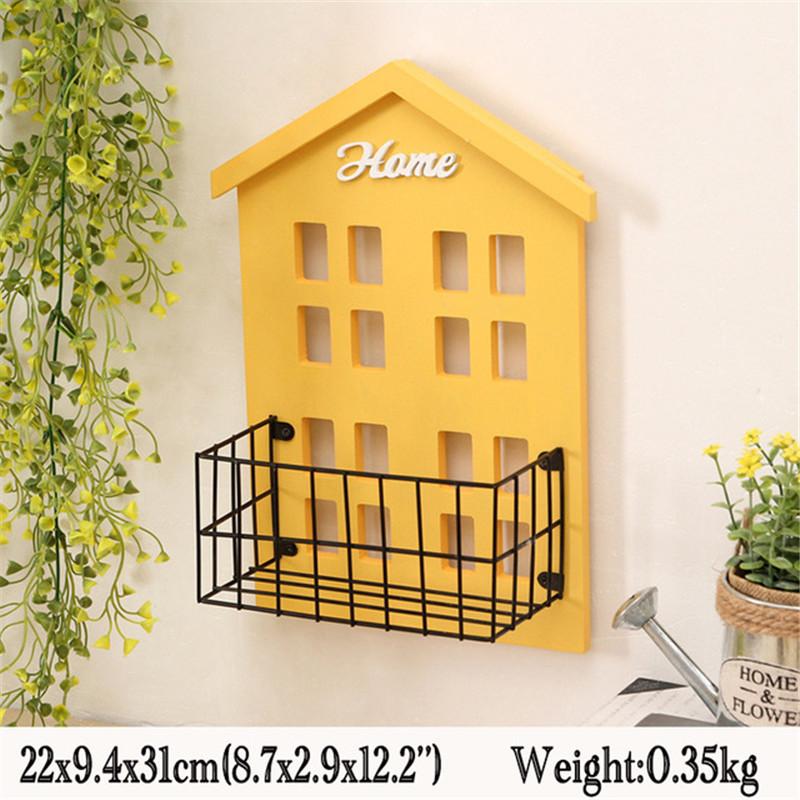 Home Storage Wood Storage Racks Wall Hanging Decor Box Flower Pot ...