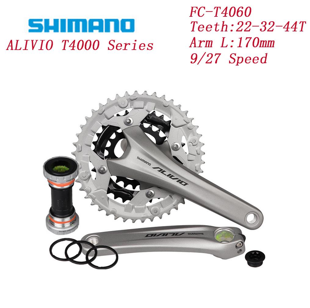 KSS 2-Piece 9-fach 170mm FC-T4060 schw Shimano Kurbelsatz Alivio 26//36//48 Z
