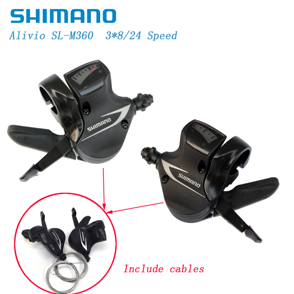 Shimano SL M360 Shifter 3x8 Speed MTB Trigger Lever Shifter Bike Bicycle