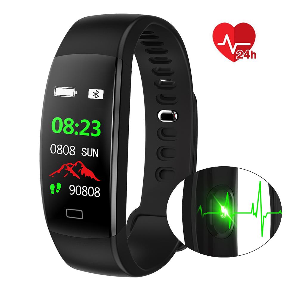 fitness armband mit pulsmesser wasserdicht ip68 fitness. Black Bedroom Furniture Sets. Home Design Ideas