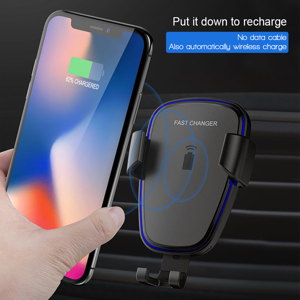 2 in 1 auto wireless charger kfz ladeger t qi induktive. Black Bedroom Furniture Sets. Home Design Ideas