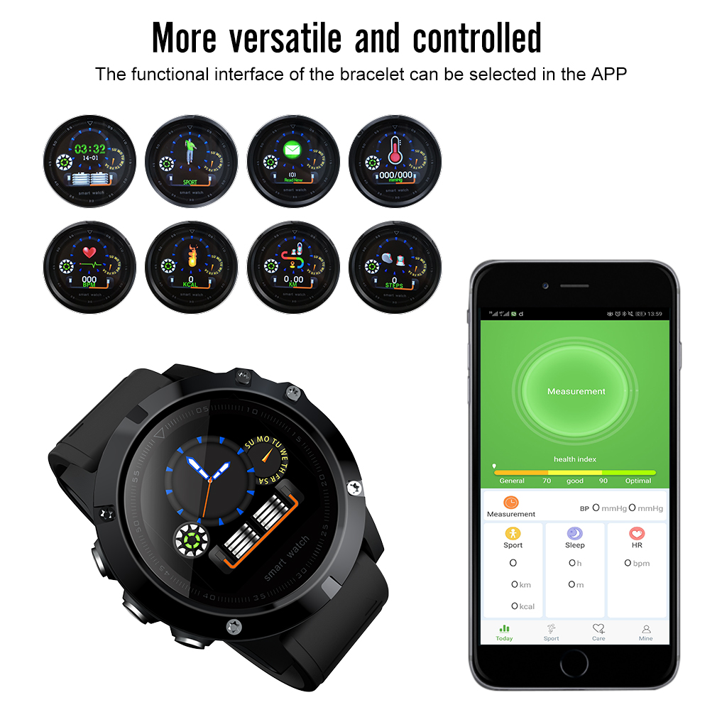 30m wasserdicht smartwatch sport fitnessuhr armband uhr. Black Bedroom Furniture Sets. Home Design Ideas