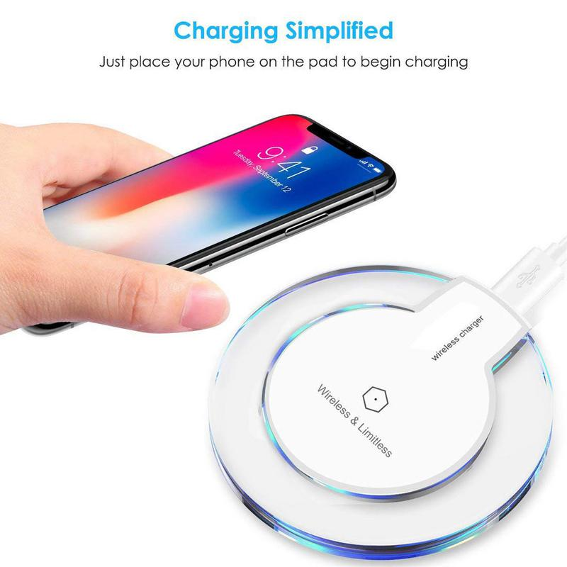 samsung qi induktive ladestation wireless charger galaxy s10 s9 plus s8 s7 s6 ebay. Black Bedroom Furniture Sets. Home Design Ideas