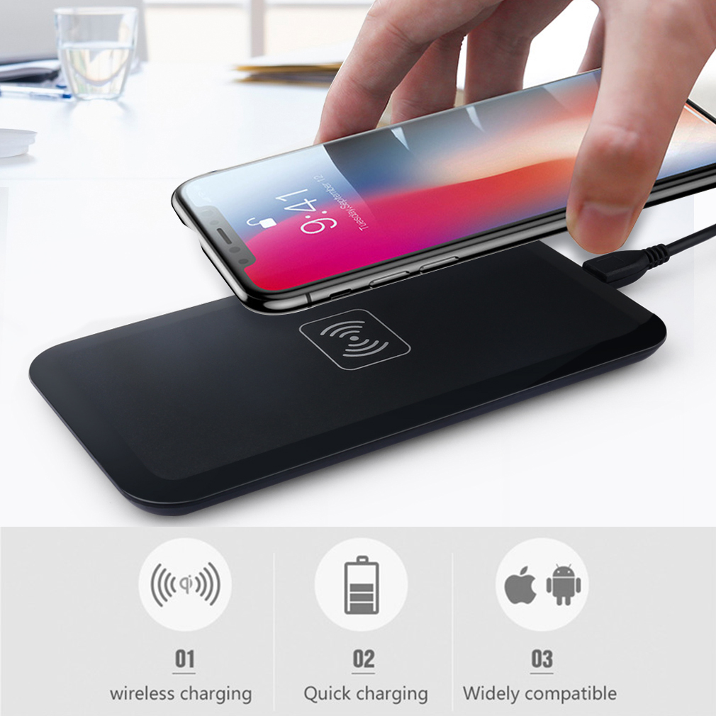 qi wireless charger charging induktion ladeger t f r samsung galaxy s6 s7 s8 s9 ebay. Black Bedroom Furniture Sets. Home Design Ideas