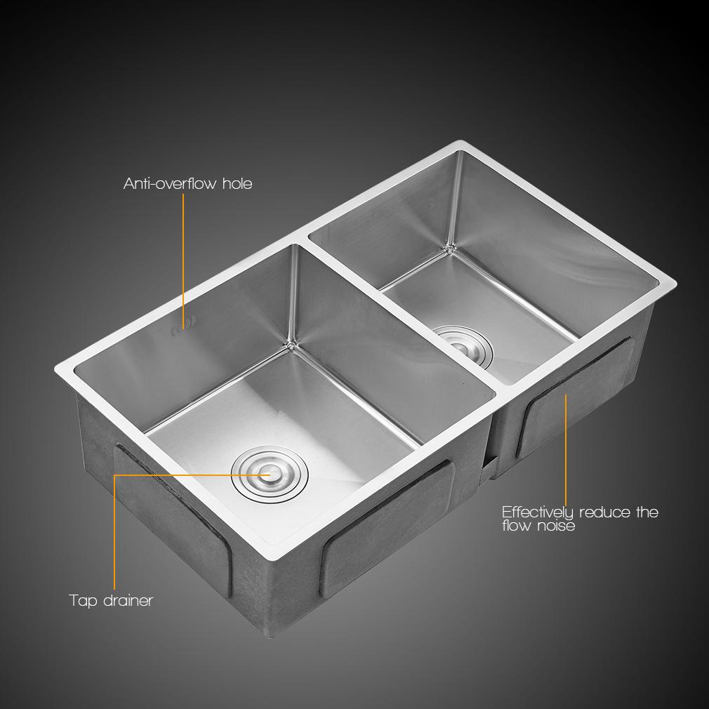 einbausp le edelstahlsp le sp lbecken sp le k chensp le doppelsp le 2 becken de ebay. Black Bedroom Furniture Sets. Home Design Ideas