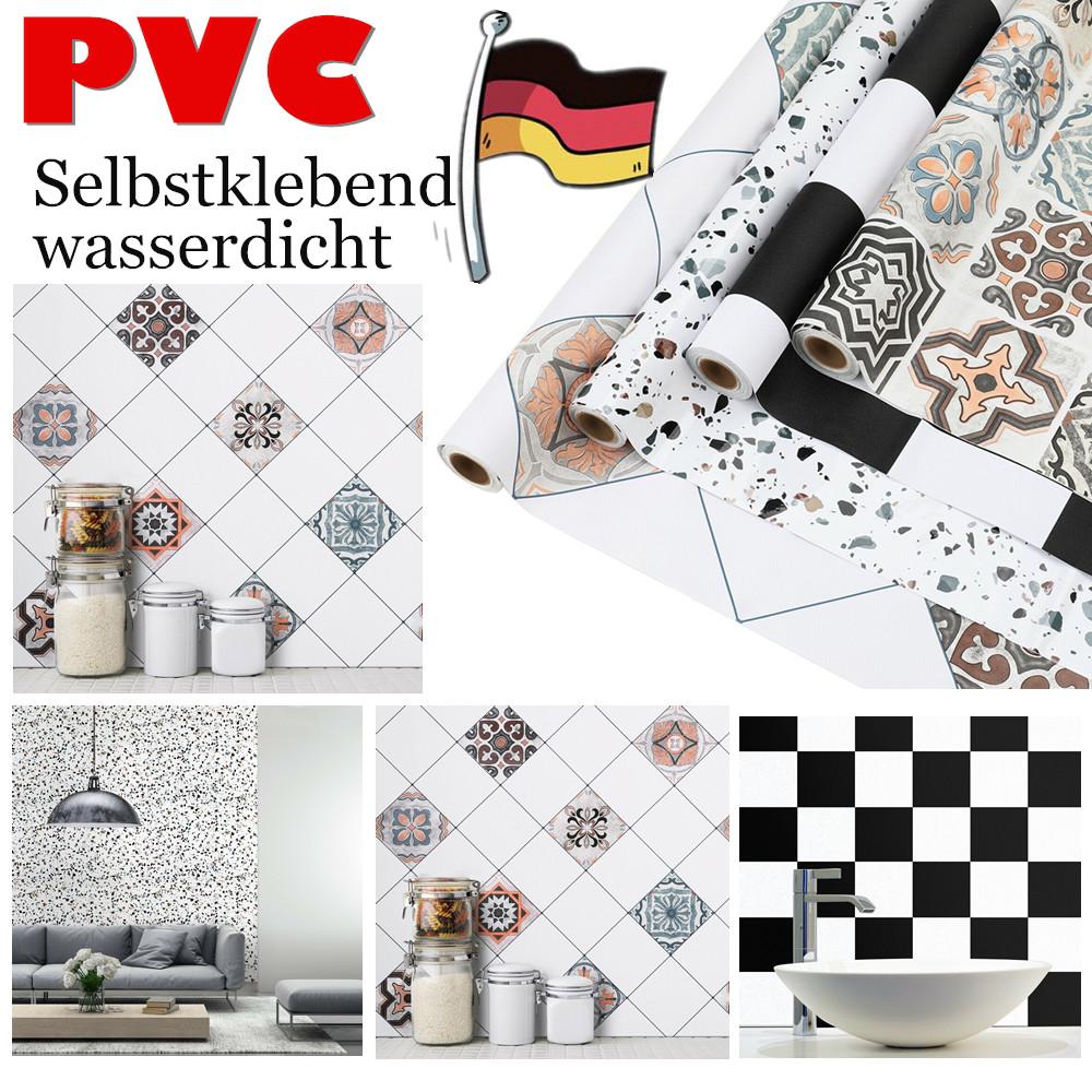 Details zu 0.61*5M Selbstklebend Fliesenfolie Wandaufkleber Fliesensticker  Küche Tapeten DE