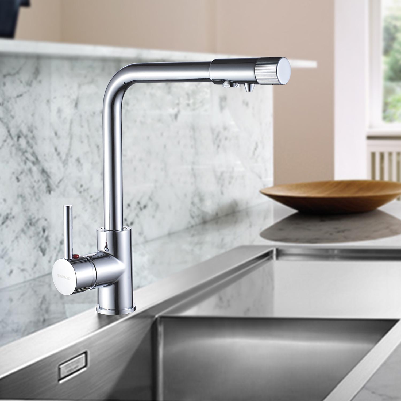 Küchenarmatur Wasserhahn Küche 3 Wege Armatur Osmose Wasserfilter DE ...