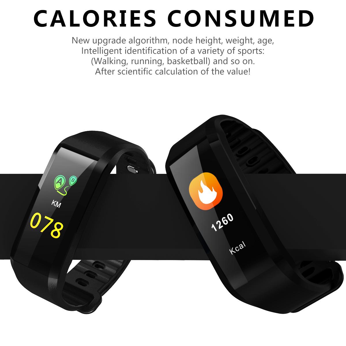 fitness armband mit tracker pulsmesser smartwatch. Black Bedroom Furniture Sets. Home Design Ideas