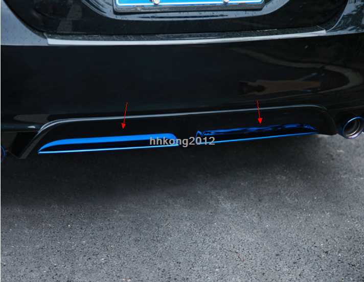 stainless blue rear bumper rear lip cover trim 2Pcs For Toyota Camry 2018-2020