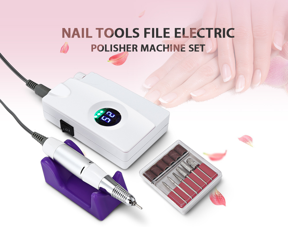 Electric Manicure Drills & Accessories Nails Art & Tools Humorous Electric Nail Drill Machine Manicure Pedicure Files Tools Kit Nail Polisher With Lcd Display 30000rpm Grinding Glazing Nail Set