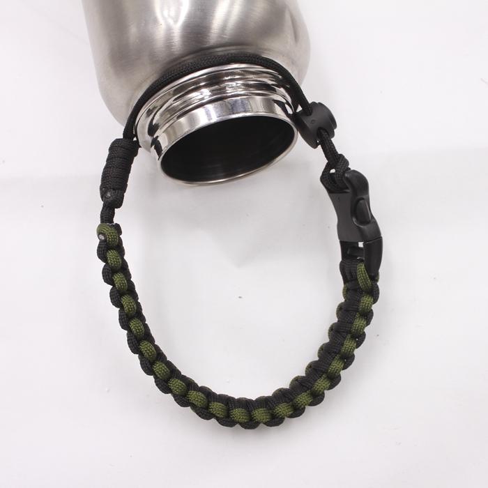 2017 new 1pcs best Water Bottle Handle for  paracord  bracelet  black yellow