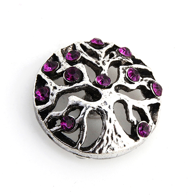18mm 3D Rhinestone Drill Snaps Chunk Charm Button For Noosa Leather Bracelets 50
