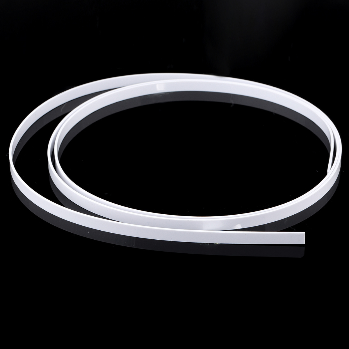 White Musiclily 1650x1x0.5mm Plastic Binding Purfling Strip for Acoustic Classical Guitar
