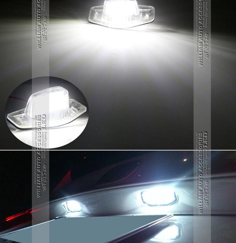 A Pair LED License Plate Light High Power Xenon White For Honda Stream 2000-2015