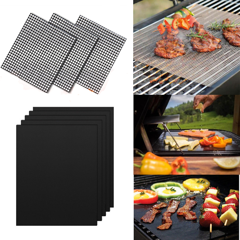 BBQ Grill Mesh Mat Reusable Sheet Resistant Non-Stick Barbecue Bake Meat sell