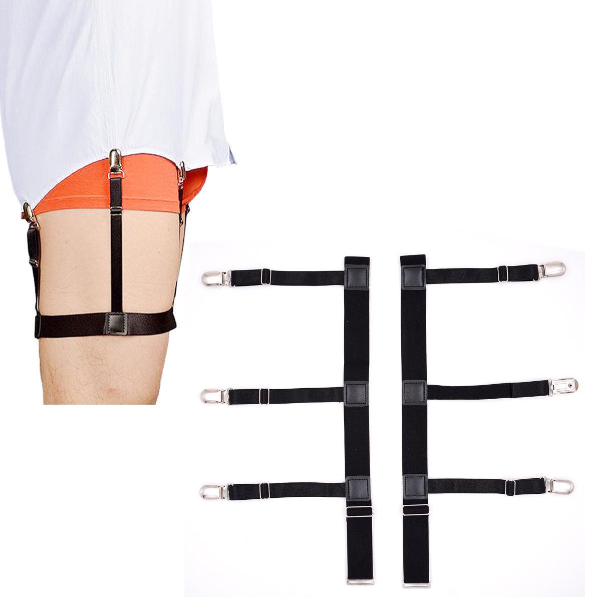 Apparel Accessories Provided Mens Shirt Crease-resist Anti-skid Clip Legs Thigh Elastic Adjustable Suspender Holder Stays Garters For Gentlemen A30 Men's Suspenders