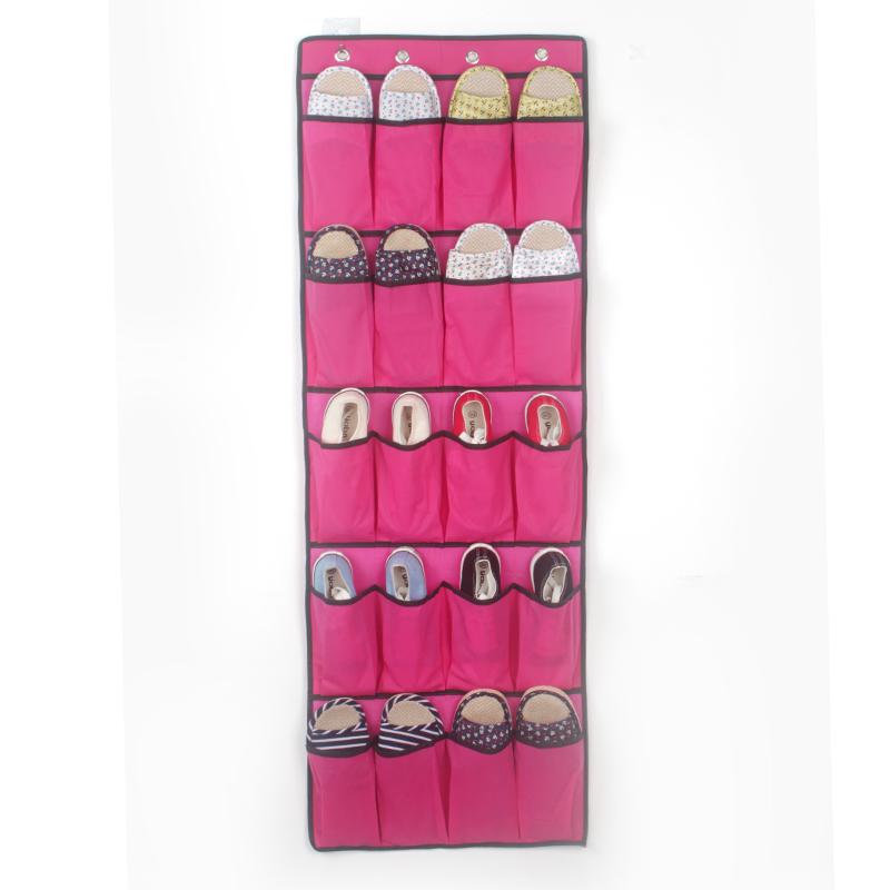 20 De Bolsillo puerta pesa sobre Zapato Rack de almacenamiento Organizador Ordenado espacio con 4 Ganchos UK