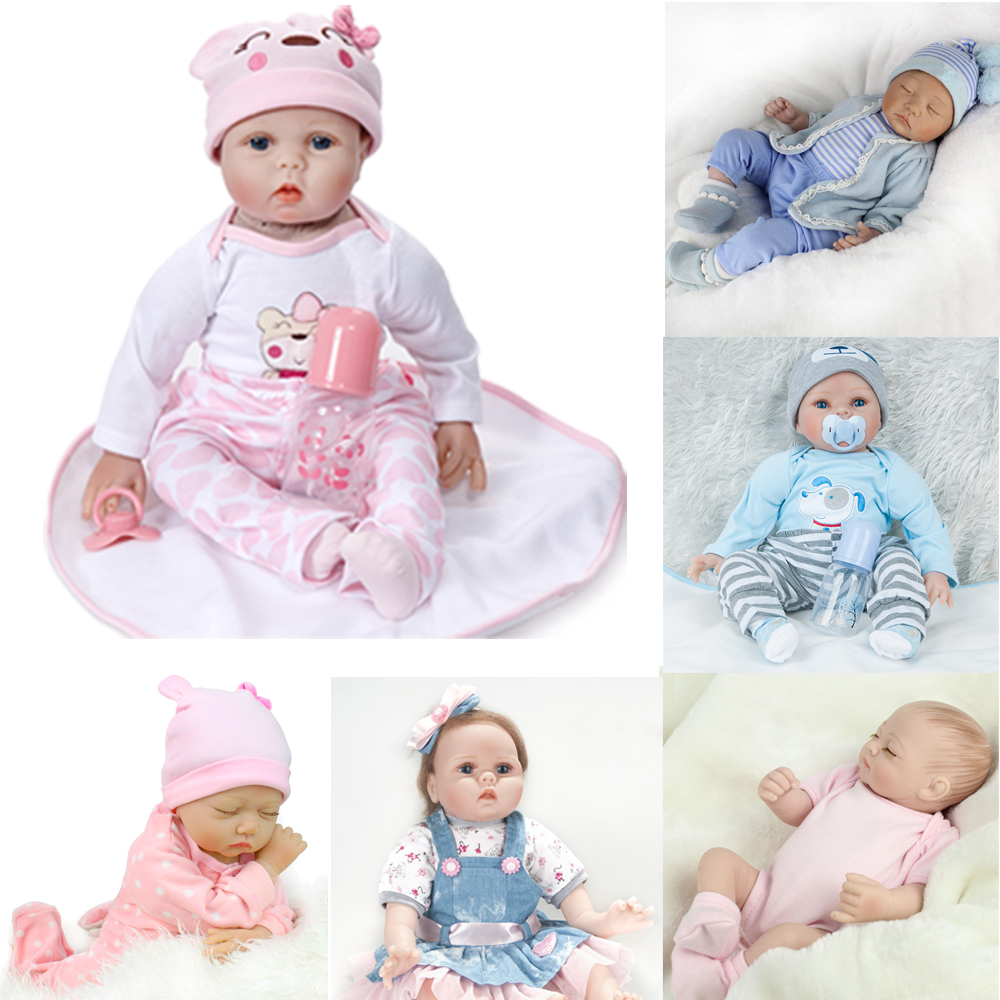 UK HANDMADE REBORN DOLL FULL VINYL NEWBORN LIFELIKE REALISTIC BABY BOY GIRL GIFT