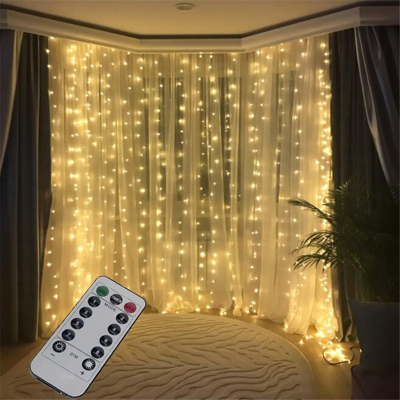 Details About 3m 300led Usb Fairy String Lights Curtain Window Display Decor Remote Controller